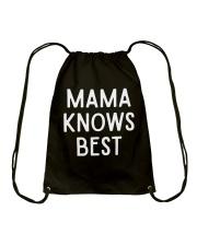 Mom Mom Mom Drawstring Bag thumbnail