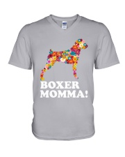 Boxer Dog Momma V-Neck T-Shirt thumbnail