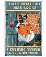 Siamese cat That's what i do i read books 16x24 Poster front