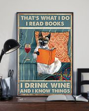 Siamese cat That's what i do i read books 16x24 Poster lifestyle-poster-2