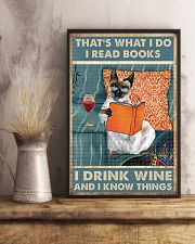 Siamese cat That's what i do i read books 16x24 Poster lifestyle-poster-3