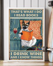 Siamese cat That's what i do i read books 16x24 Poster lifestyle-poster-4