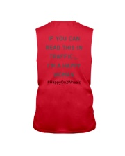 If You Can Read This In Traffic I'm A Happy WOMAN Sleeveless Tee back