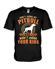 LIMITED EDITION JUDGE MY PITBULL V-Neck T-Shirt tile