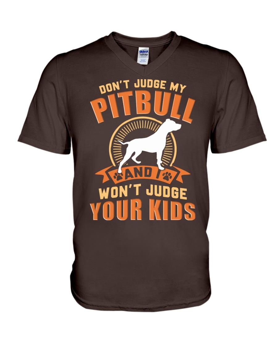LIMITED EDITION JUDGE MY PITBULL V-Neck T-Shirt