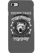 LIMITED EDITION MY BABY PITBULL Phone Case tile