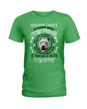LIMITED EDITION MY BABY PITBULL Ladies T-Shirt front