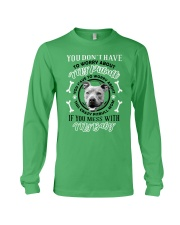 LIMITED EDITION MY BABY PITBULL Long Sleeve Tee front