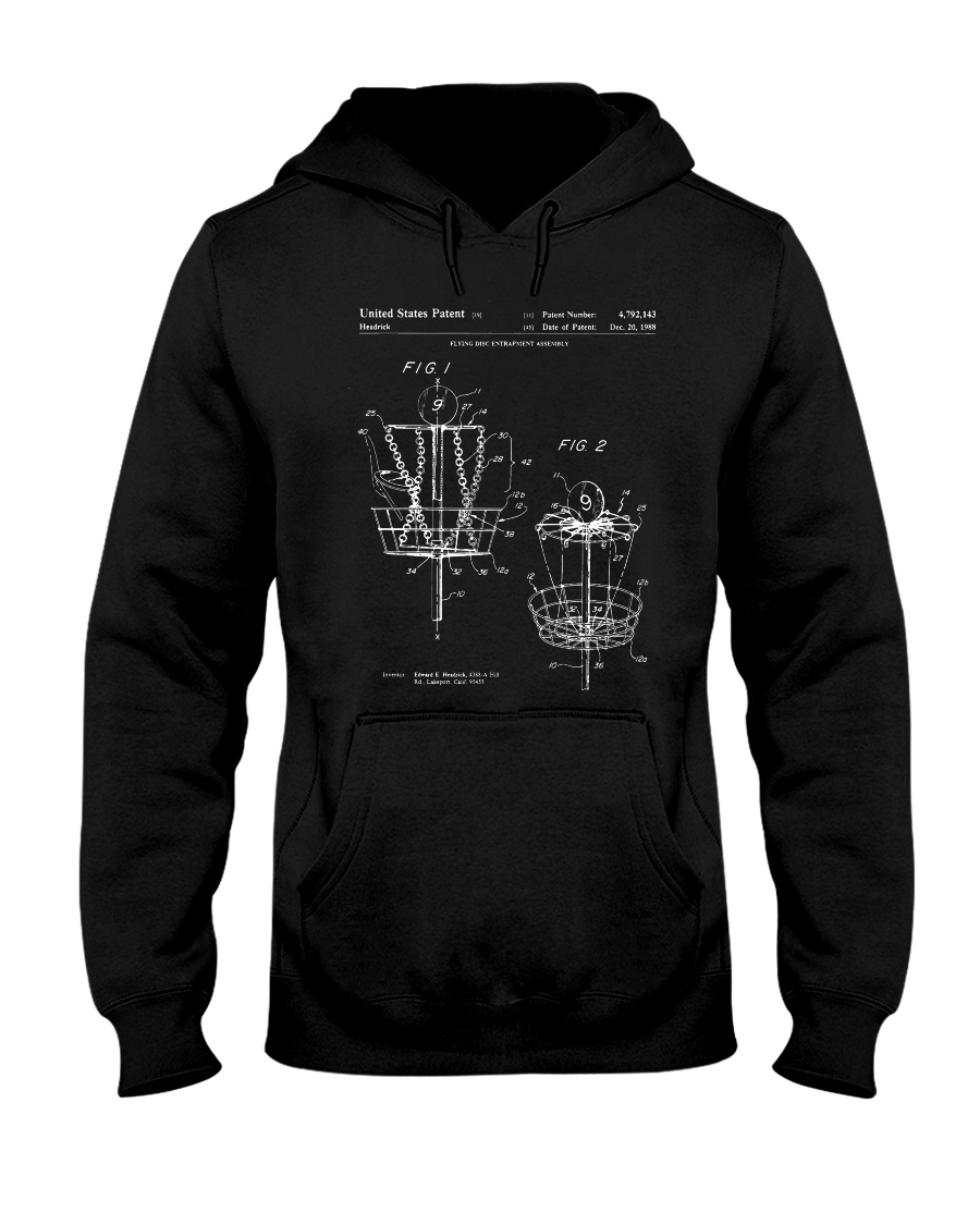 Disc Golf Basket T Shirt Hooded Sweatshirt