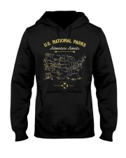 National Park Map Shirt Hooded Sweatshirt front