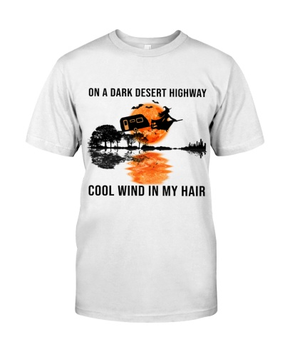 On a dark desert highway cool wind in my hair