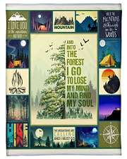 """And Into the forest i go   Small Fleece Blanket - 30"""" x 40"""" thumbnail"""