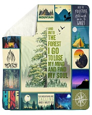 """And Into the forest i go   Sherpa Fleece Blanket - 50"""" x 60"""" thumbnail"""