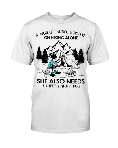 A woman cannot survive on hiking alone