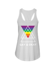 Gay and Okay Ladies Flowy Tank thumbnail