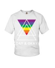 Gay and Okay Youth T-Shirt front