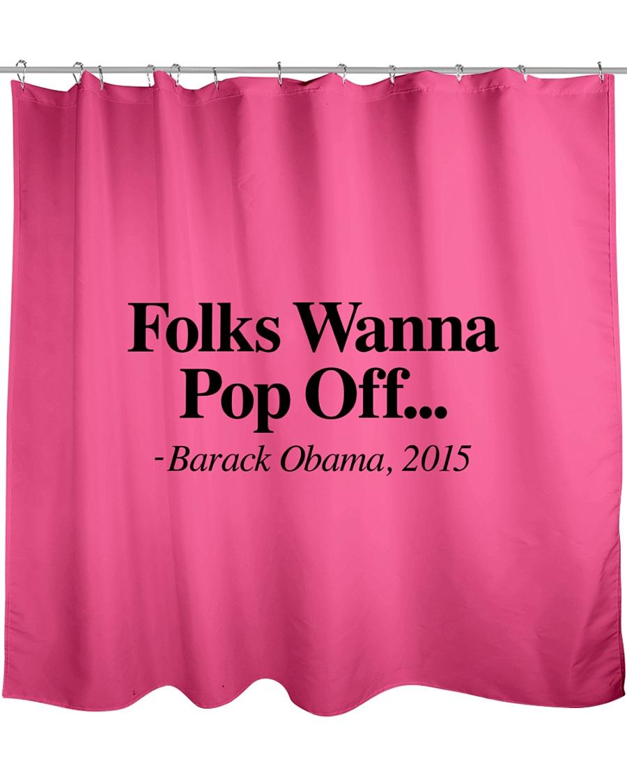 Folks  Shower Curtain
