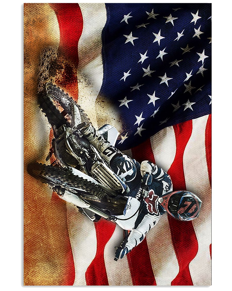 Dirt Bike Flag  24x36 Poster