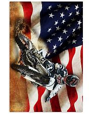 Dirt Bike Flag  24x36 Poster front