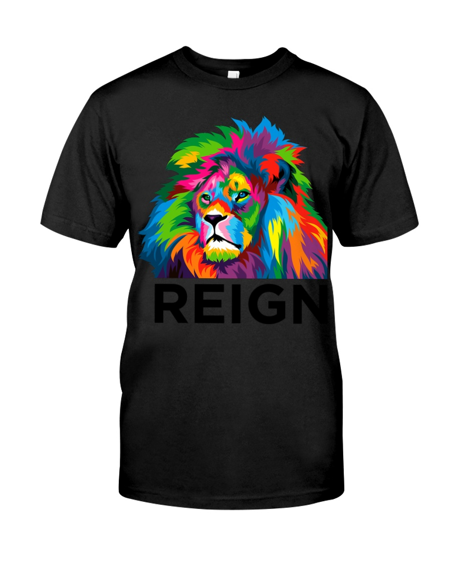 Lion Reign Bold Back To School Premium Fit Mens Tee