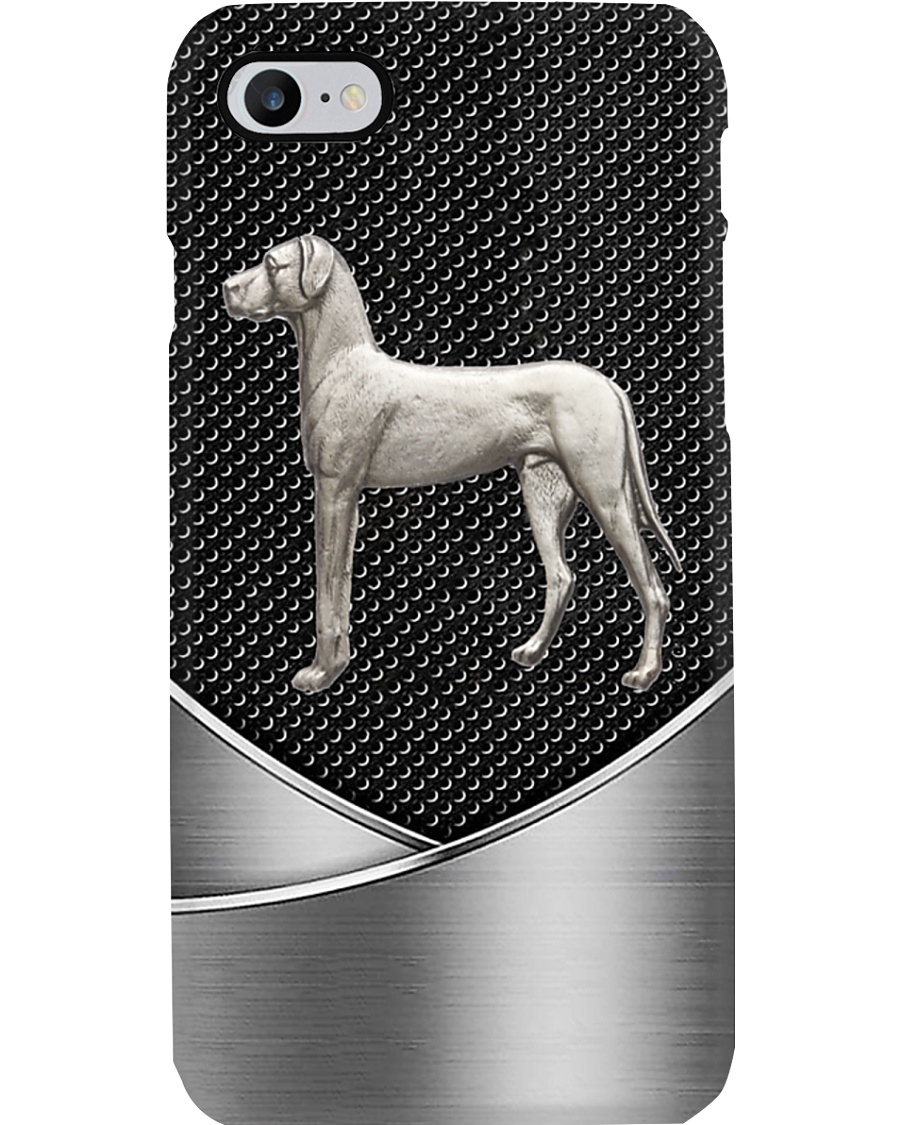 Great Dane - silver Phone Case