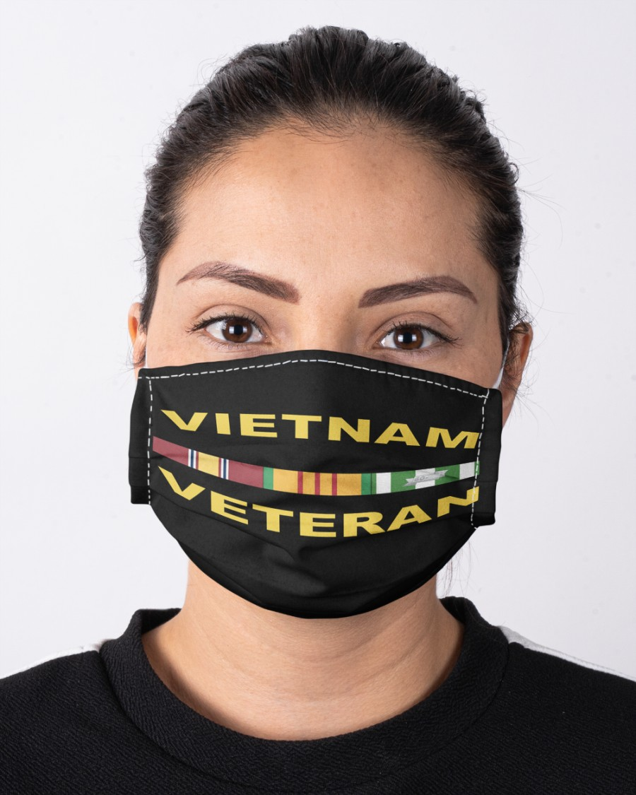 Viet Nam Veteran Hat and Face Mask Cloth face mask