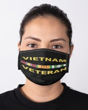 Viet Nam Veteran Hat and Face Mask Cloth face mask aos-face-mask-lifestyle-01