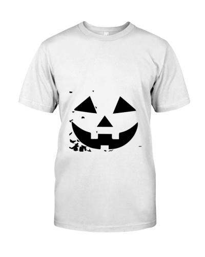 scary pumpkin boo halloween cute minimal art trend
