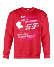 I love my Husband Crewneck Sweatshirt front