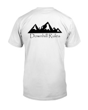 Downhill Rules Classic tee with Logo on back Classic T-Shirt back