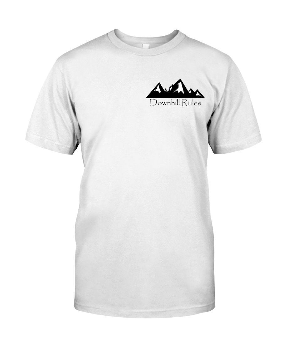 Downhill Rules Classic tee with Logo on back Classic T-Shirt