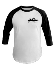 Downhill Rules Classic tee with Logo on back Baseball Tee thumbnail