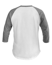 Downhill Rules Classic Baseball Tee back