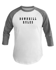 Downhill Rules Classic Baseball Tee front