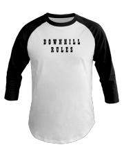 Downhill Rules Classic Baseball Tee thumbnail