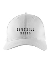 Downhill Rules Classic Embroidered Hat tile