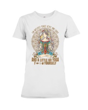Womens im mostly peace love  Premium Fit Ladies Tee thumbnail