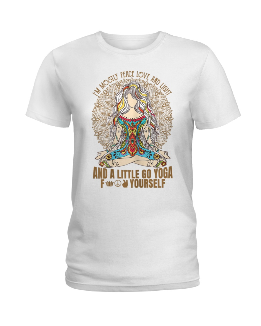 Womens im mostly peace love  Ladies T-Shirt