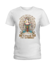 Womens im mostly peace love  Ladies T-Shirt front