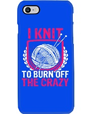 I Knit To Burn Off The Crazy Phone Case thumbnail