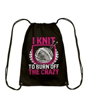 I Knit To Burn Off The Crazy Drawstring Bag thumbnail