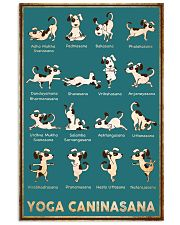 Yoga Caninasana Poster Funny Yoga Dog Poster 11x17 Poster front