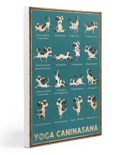 Yoga Caninasana Poster Funny Yoga Dog Poster Gallery Wrapped Canvas Prints tile