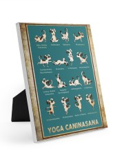 Yoga Caninasana Poster Funny Yoga Dog Poster Easel-Back Gallery Wrapped Canvas tile