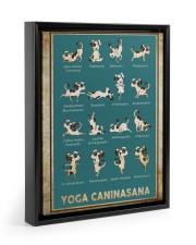 Yoga Caninasana Poster Funny Yoga Dog Poster Floating Framed Canvas Prints Black tile
