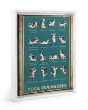 Yoga Caninasana Poster Funny Yoga Dog Poster Floating Framed Canvas Prints White tile