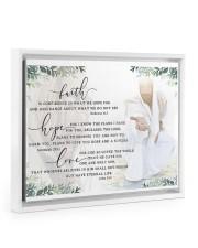 FAITH HOPE LOVE POSTER Floating Framed Canvas Prints White tile