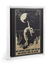 SHE DREAMS HIGHER THAN THE SKY Floating Framed Canvas Prints White tile