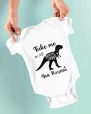 Take Me To My Auntie Saurus You Peasant Baby Onesie garment-baby-onesie-lifestyle-front-03