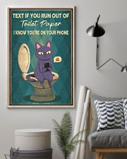TEXT IF YOU RUN OUT OF TOILET PAPER POSTER 11x17 Poster lifestyle-poster-1